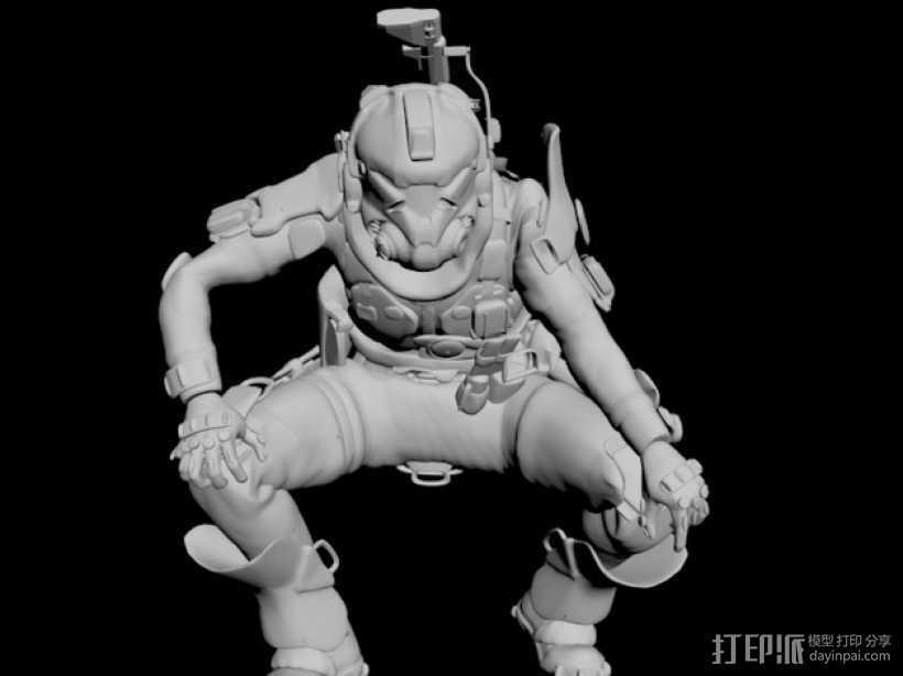 泰坦陨落飞行员 3D打印模型渲染图