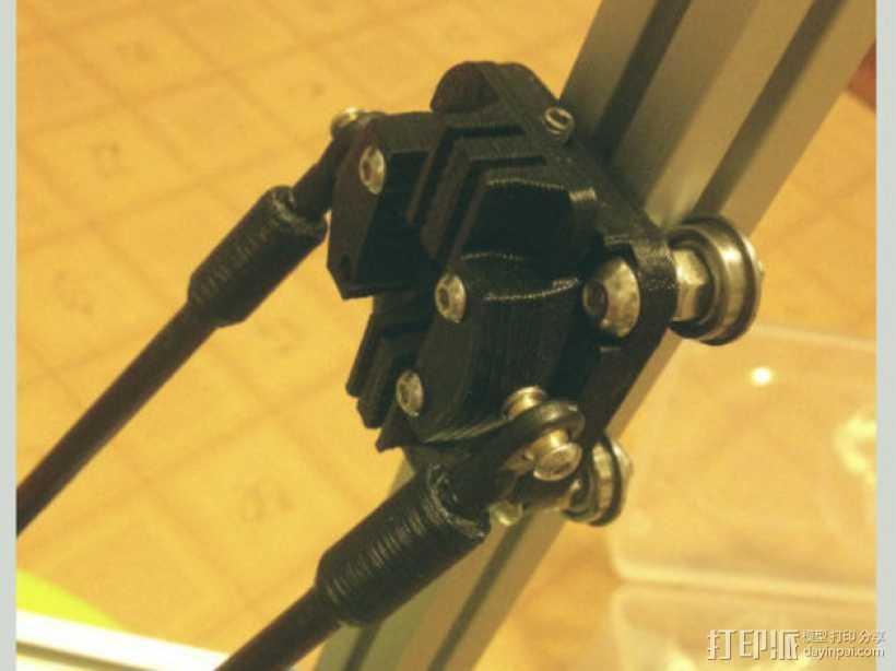 Kossel Mini 3D打印机滑动系统 3D打印模型渲染图