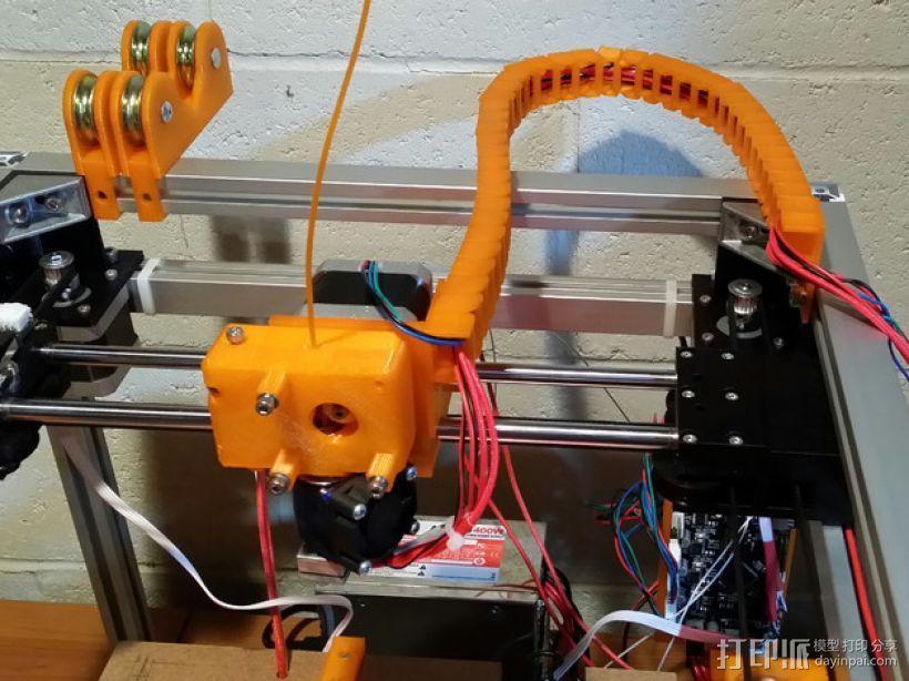 3uP 3D打印机电缆保护链 3D打印模型渲染图