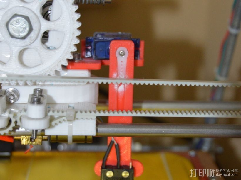 Prusa i2 3D打印机打印床自动校准装置 3D打印模型渲染图