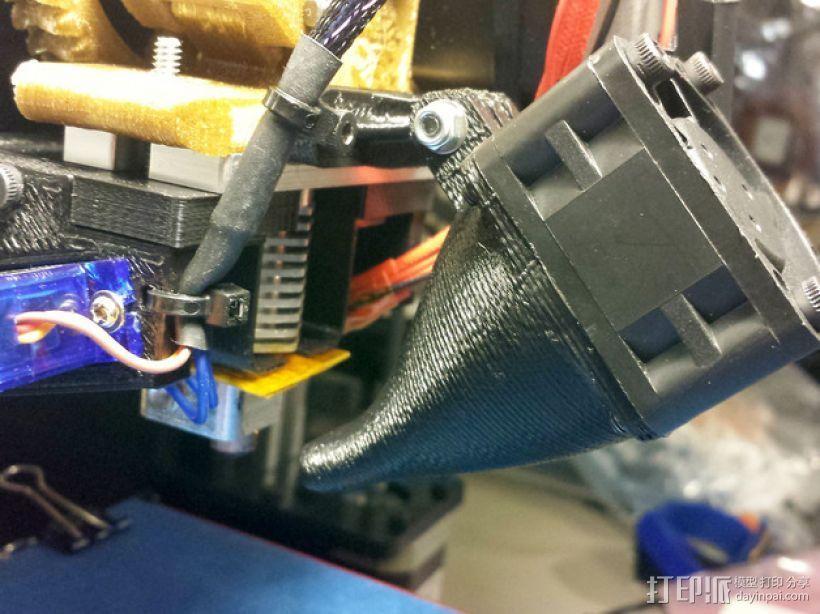 Prusa i3 and i3v打印机散热风扇. 3D打印模型渲染图