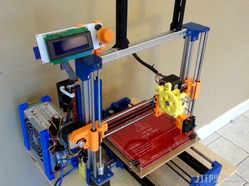 3D打印机Y轴固定架 3D打印模型渲染图