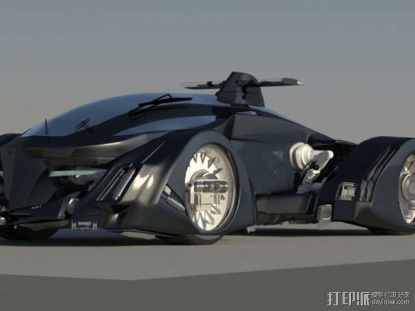 未来的赛车 3D打印模型渲染图