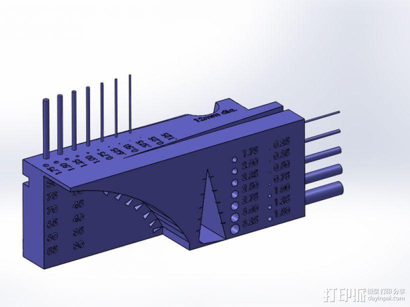 公制校准器 3D打印模型渲染图
