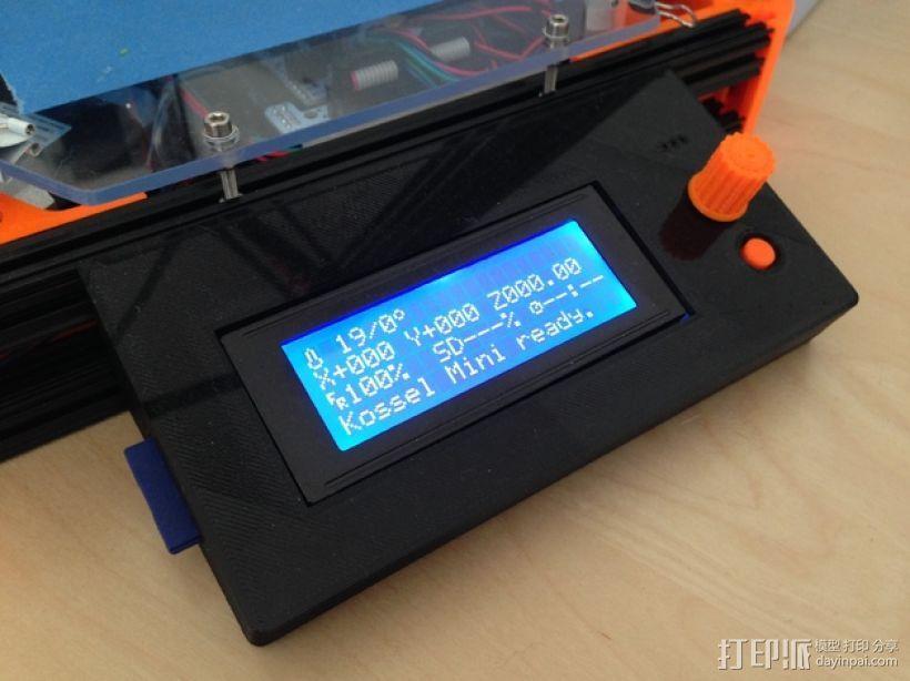智能LED显示屏底座 3D打印模型渲染图