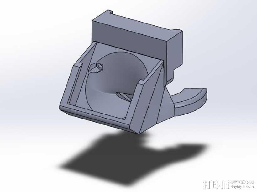 Solidoodle 4挤出机通风导管及支架 3D打印模型渲染图