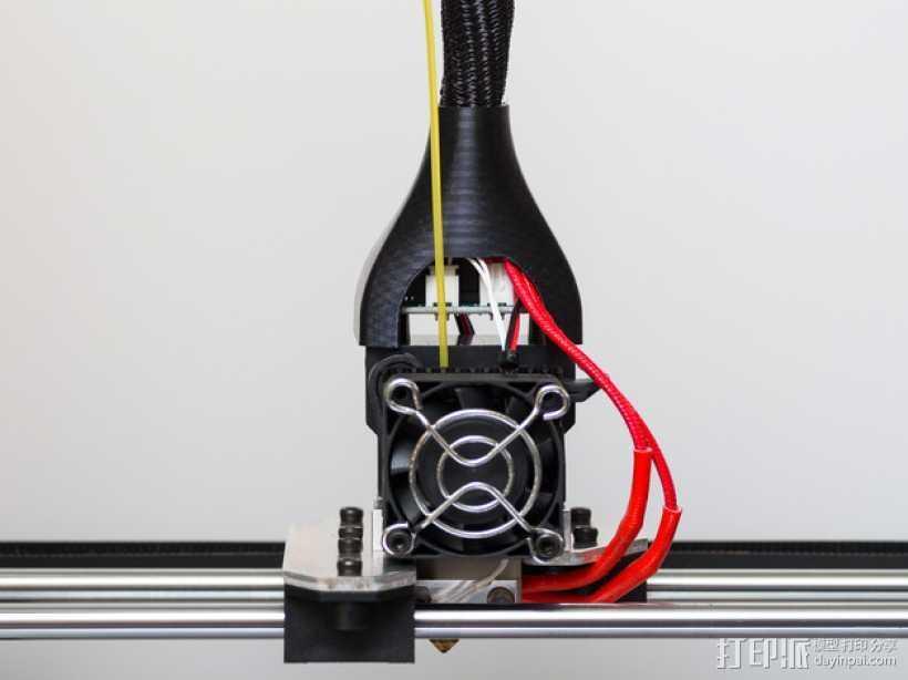 RigidBot挤出机电缆轴衬 3D打印模型渲染图