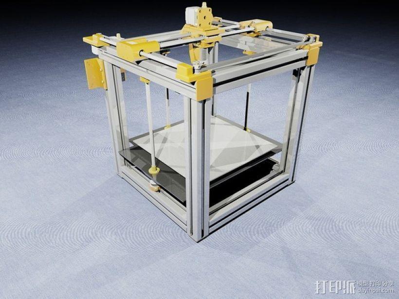QU-BD OneUp/TwoUp打印机 3D打印模型渲染图