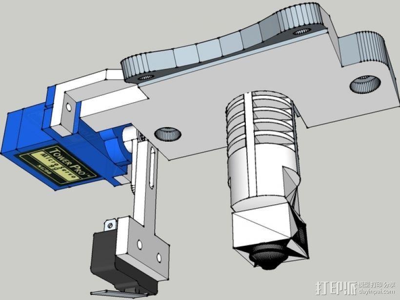 Prusa i3打印机机床高度调节器 3D打印模型渲染图
