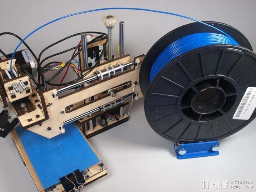 线轴架 3D打印模型渲染图