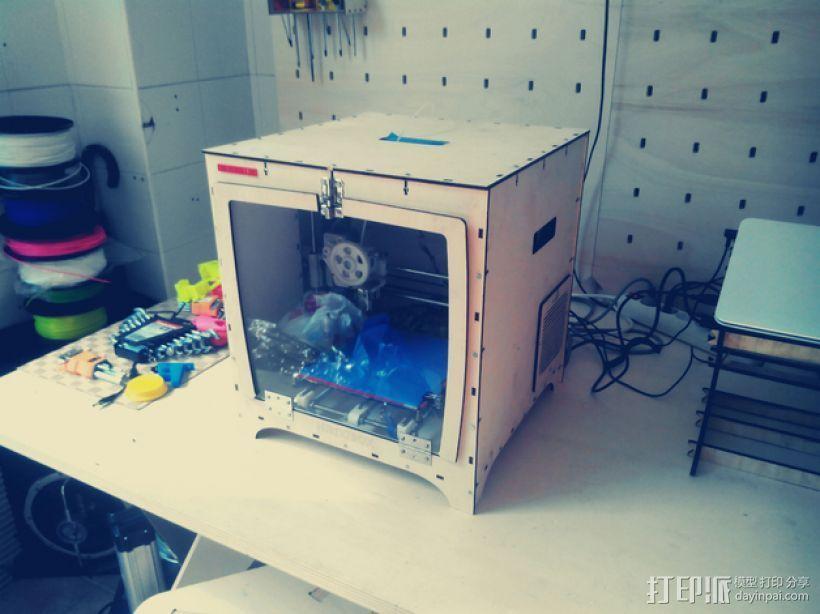 激光切割机 盒子 3D打印模型渲染图