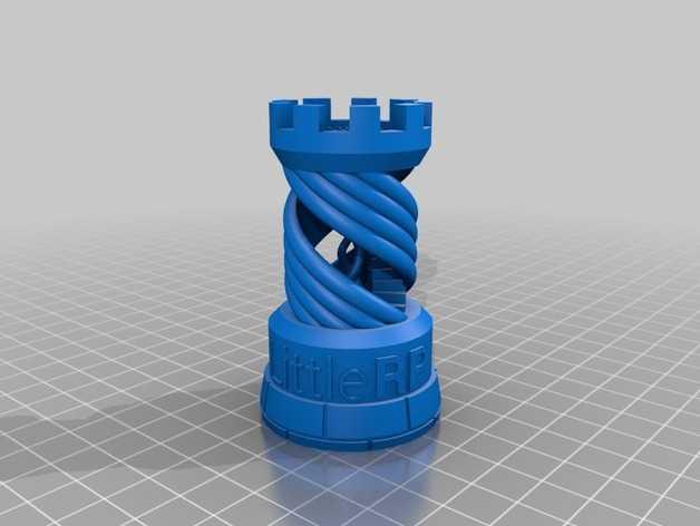 打印样品:象棋中的车 3D打印模型渲染图