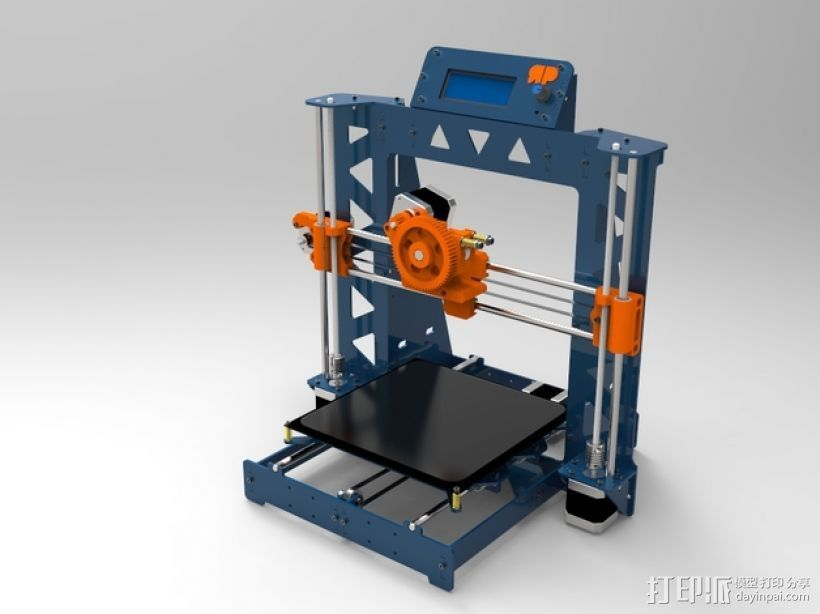 Prusa i3 打印机 3D打印模型渲染图