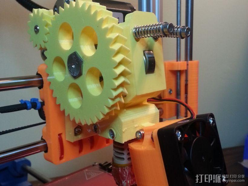 Prusa i3 3D打印机挤出机 3D打印模型渲染图