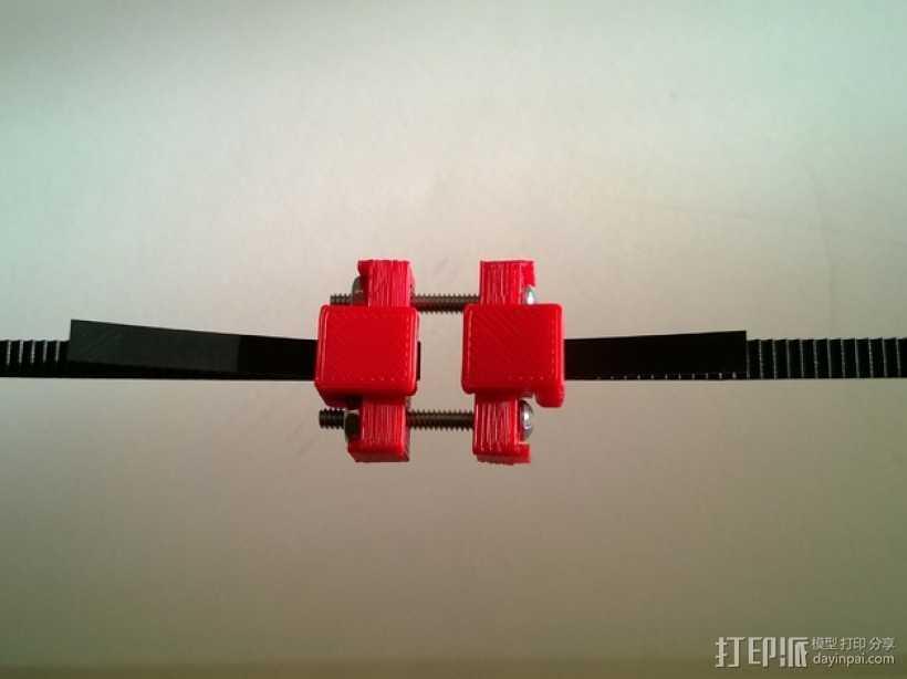 可调节皮带张紧器 3D打印模型渲染图