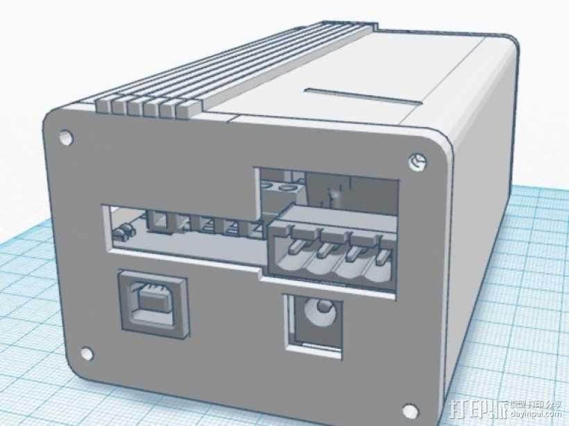 Ramps 1.4 打印机排风扇 3D打印模型渲染图