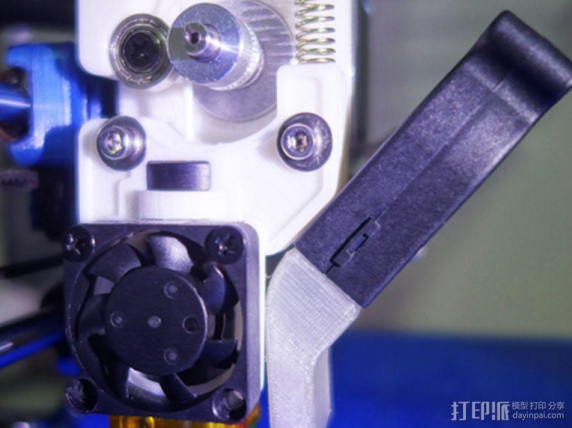 挤出机J形喷头固定器 3D打印模型渲染图