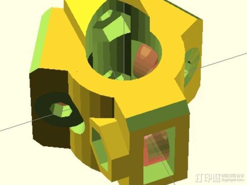 直线轴承模组 3D打印模型渲染图