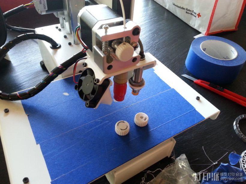 PrintrBot打印机的挤出机旋钮 3D打印模型渲染图