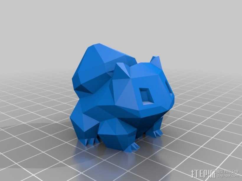 妙蛙种子 模型 3D打印模型渲染图