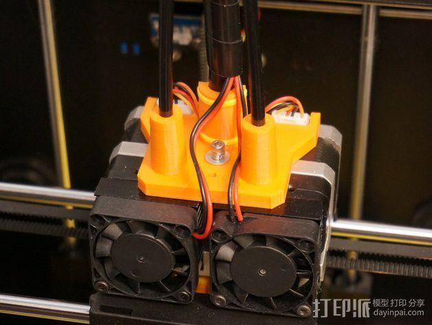 双重挤出机凸缘板 3D打印模型渲染图