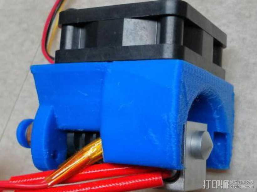 Kossel Mini打印机风扇保护罩 3D打印模型渲染图