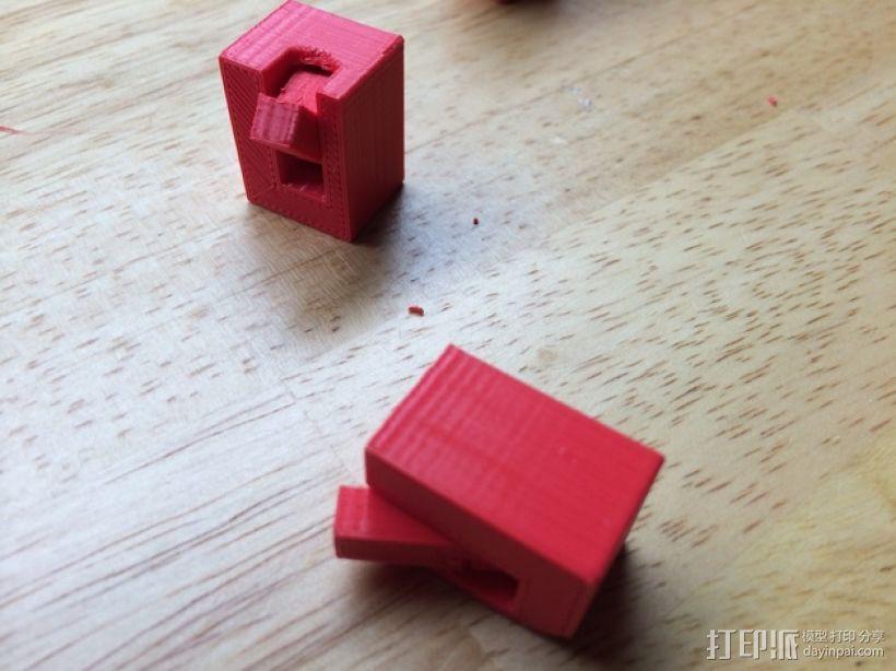 铰链活动关节 3D打印模型渲染图