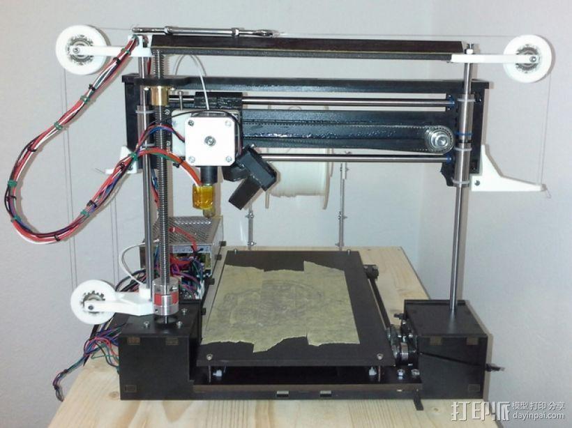 打印机滑轮滑杆套组 3D打印模型渲染图