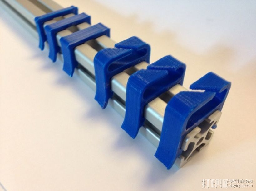 打印机材料夹  电缆夹 3D打印模型渲染图