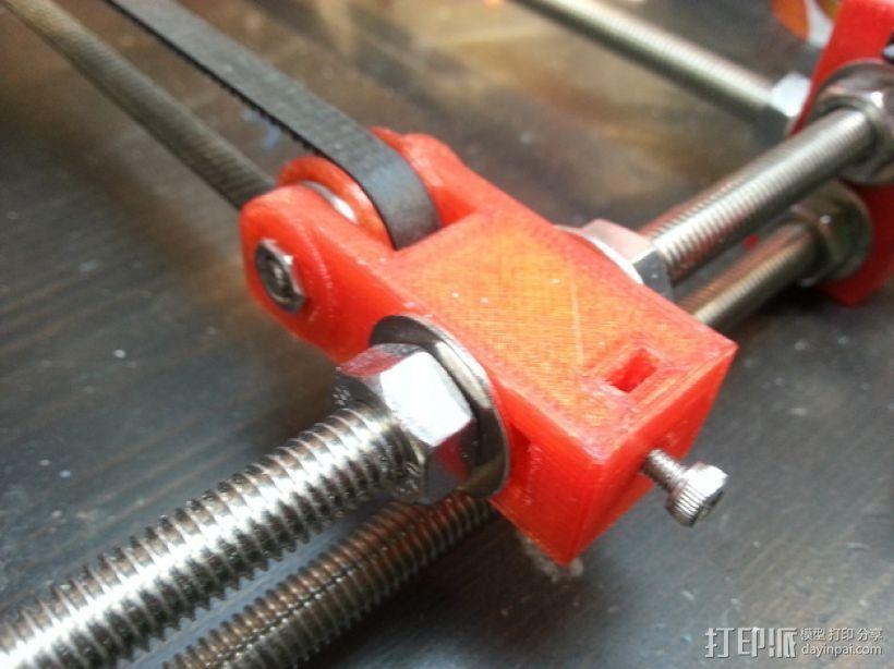 prusa i3 打印机Y轴惰轮  3D打印模型渲染图