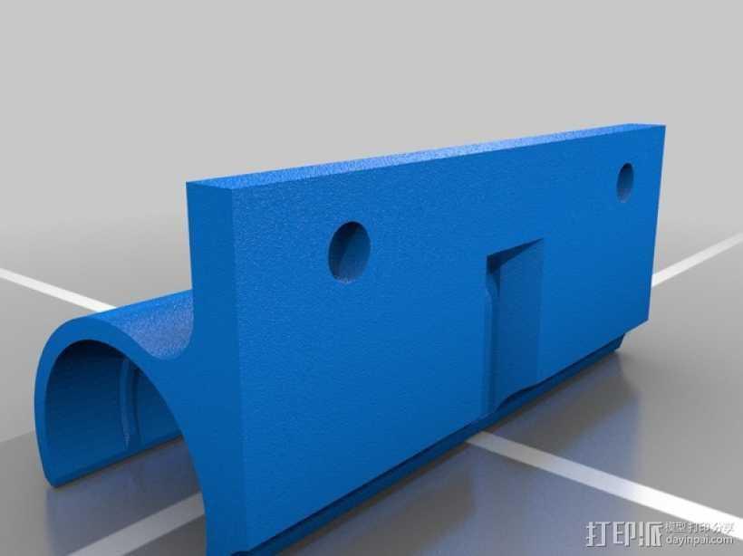 挤出机轴承架 3D打印模型渲染图