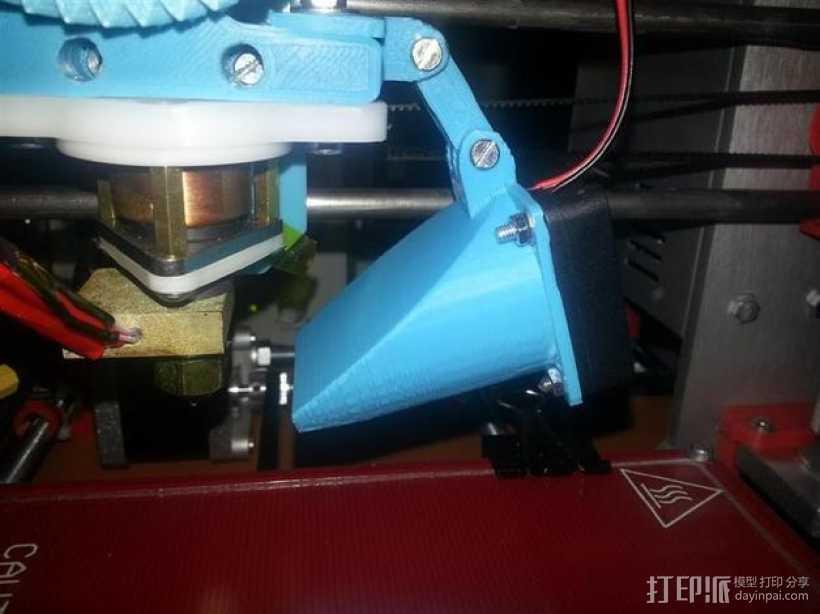 挤出机通风导管 3D打印模型渲染图