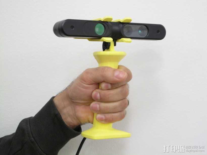 3D扫描仪手柄 镜头盖 3D打印模型渲染图