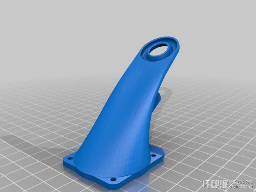 风扇通风导管 3D打印模型渲染图