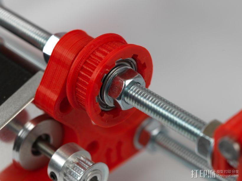皮带滑轮 3D打印模型渲染图