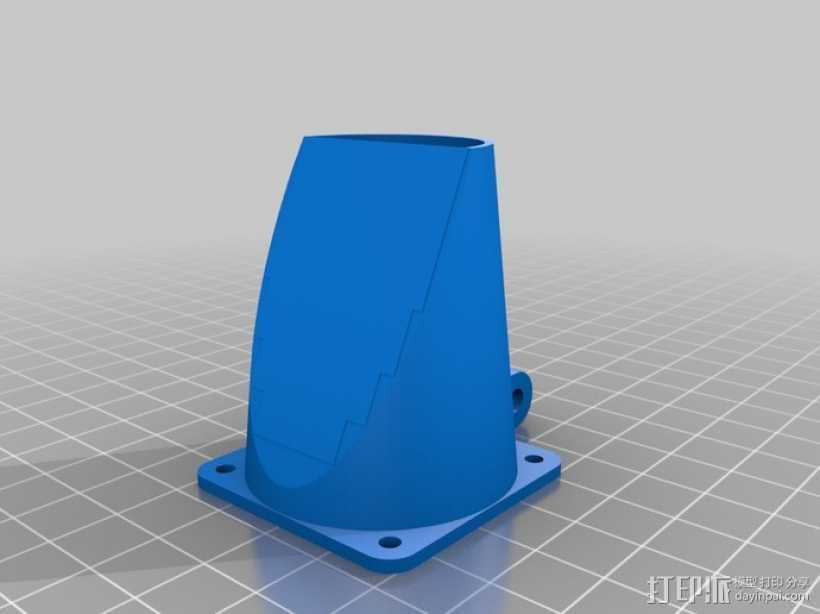 可调节的风扇座 通风导管 3D打印模型渲染图