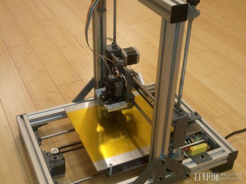 铝制Mendel打印机 3D打印模型渲染图