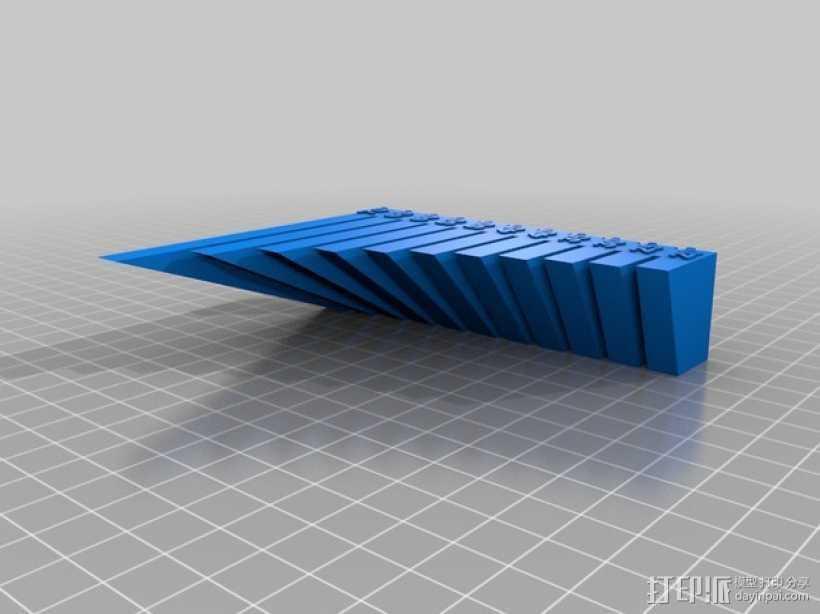 垂悬打印测试 3D打印模型渲染图