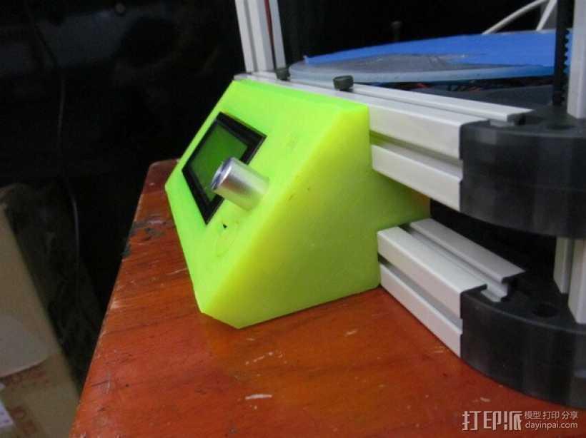 Kossel 800打印机显示屏外框 3D打印模型渲染图