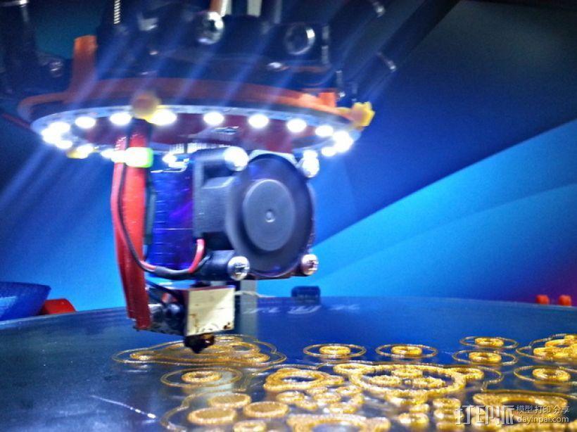 Rostock MAX / Orion打印机LED环 3D打印模型渲染图