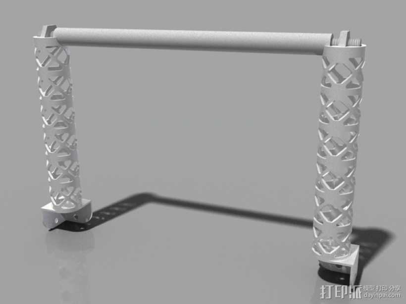 Replicator 2打印机线轴桁架 3D打印模型渲染图