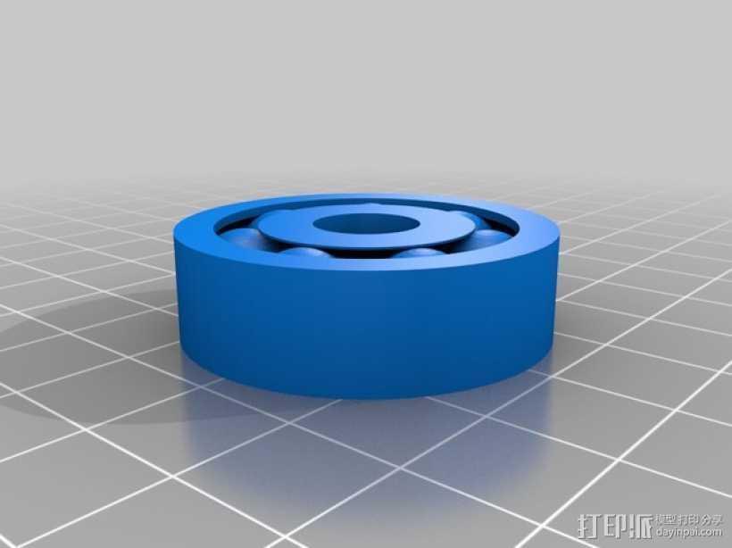 轴承 滚珠轴承 3D打印模型渲染图