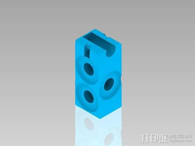 Prusa i3打印机Y轴连接器 3D打印模型渲染图