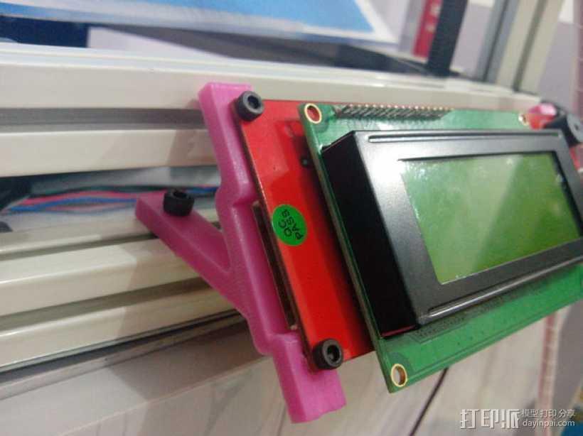 Kossel mini (K800) 打印机显示屏支架 3D打印模型渲染图