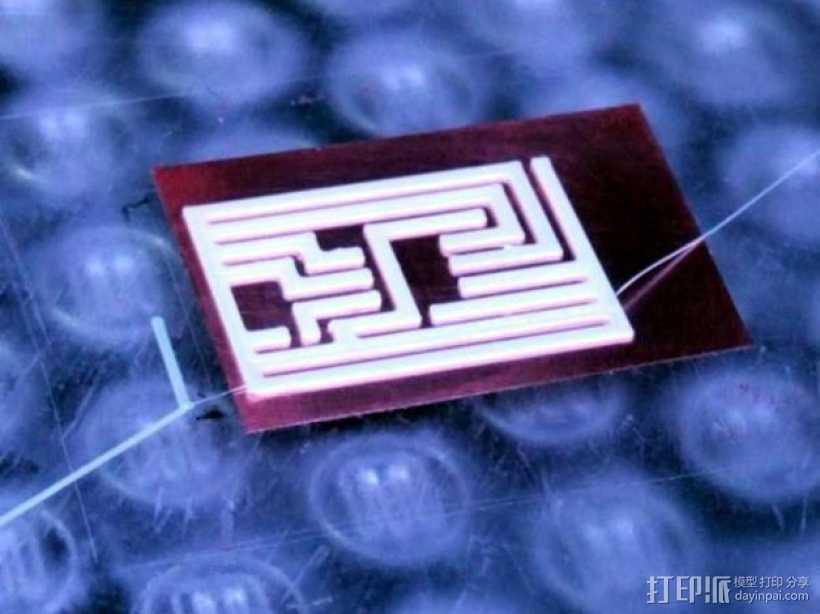 3D打印有弹性的电路板 3D打印模型渲染图