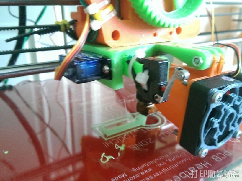 打印机自动调平杆 3D打印模型渲染图