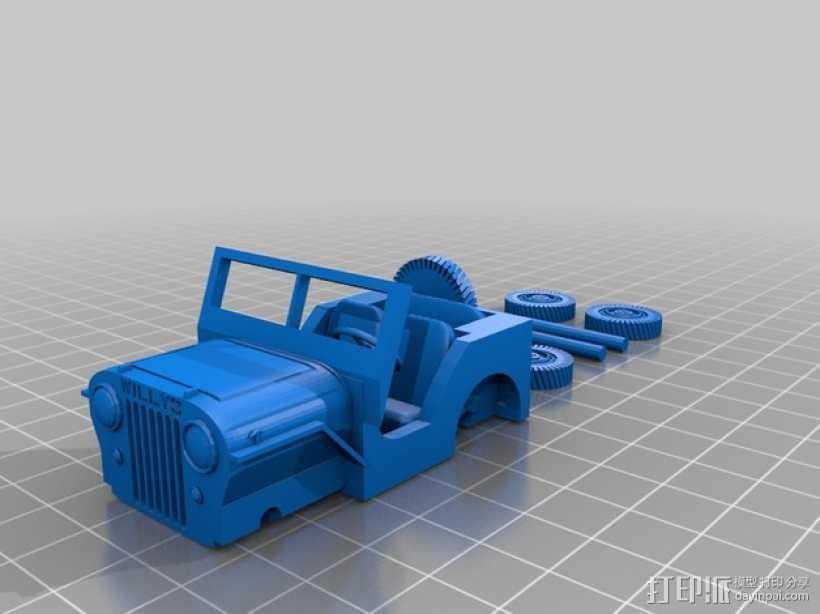 威利斯越野车 3D打印模型渲染图