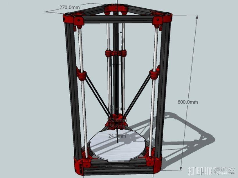 Delta'Q 3D打印机 3D打印模型渲染图