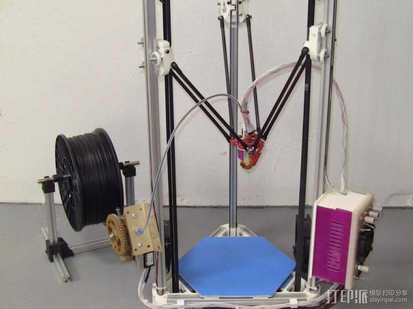 Kossel Mini 3D打印机部件 3D打印模型渲染图