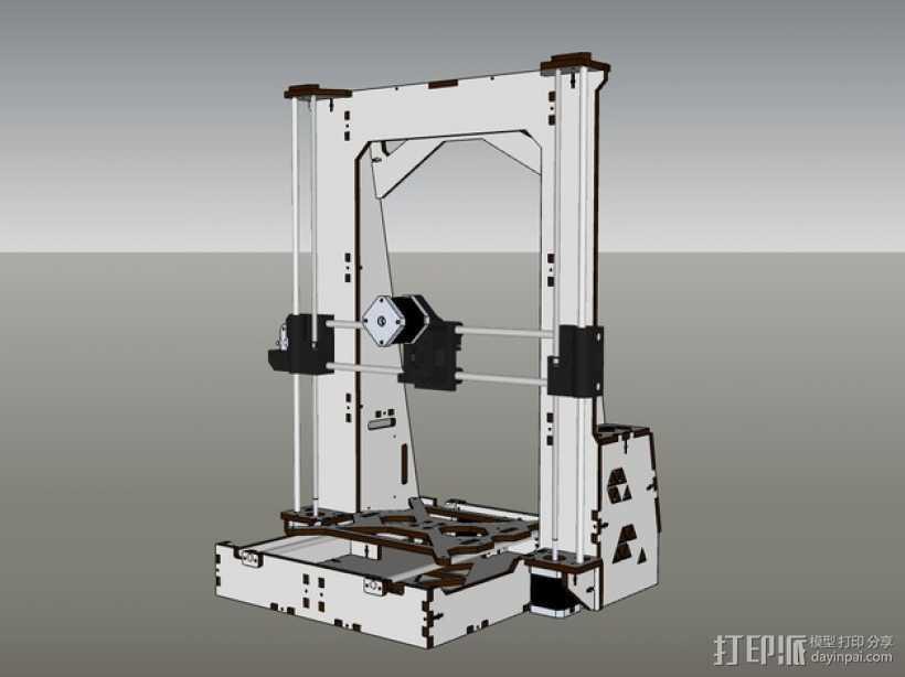 Pi-printer打印机 3D打印模型渲染图